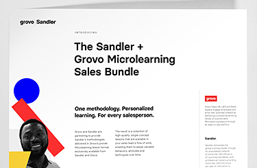 Datasheet – Grovo + Sandler Microlearning Sales Bundle